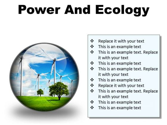 Power And Ecology Nature PowerPoint Presentation Slides C