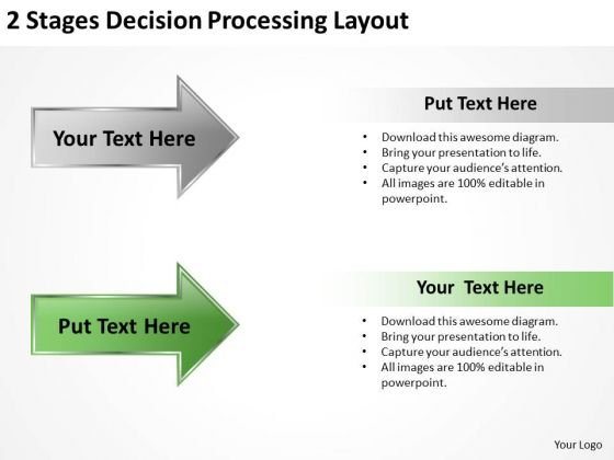 Power Point Arrow 2 Stages Decision Processing Layout Ppt PowerPoint Templates