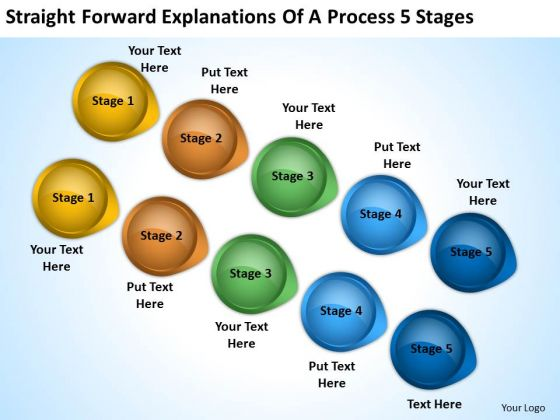 Power Point Arrows Straight Forward Explanations Of Process 5 Stages PowerPoint Templates