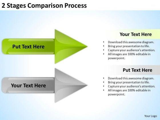 PowerPoint Arrow Shapes Comparison Process Ppt Templates Backgrounds For Slides
