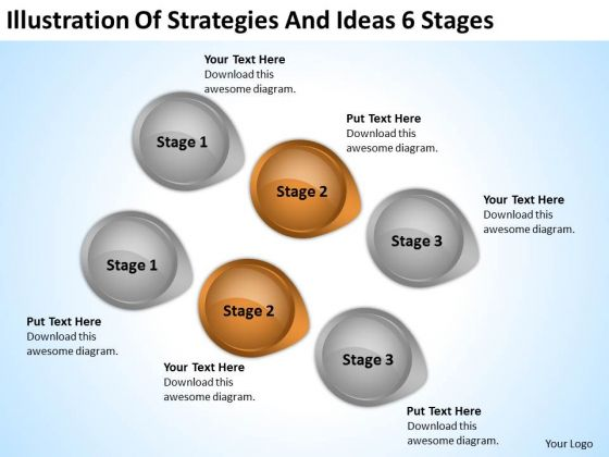 PowerPoint Arrow Shapes Illustration Of Strategies And Ideas 6 Stages Ppt Slide