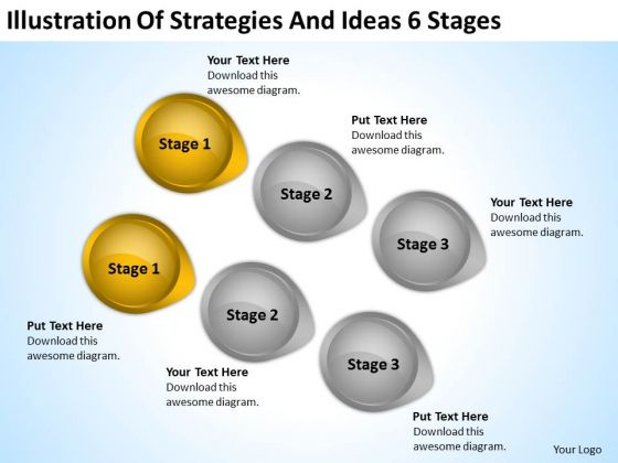 PowerPoint Arrow Shapes Illustration Of Strategies And Ideas 6 Stages Ppt Slides