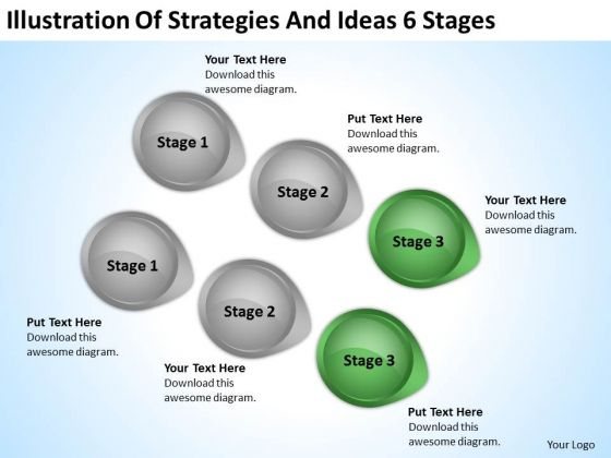 PowerPoint Arrow Shapes Illustration Of Strategies And Ideas 6 Stages Slide