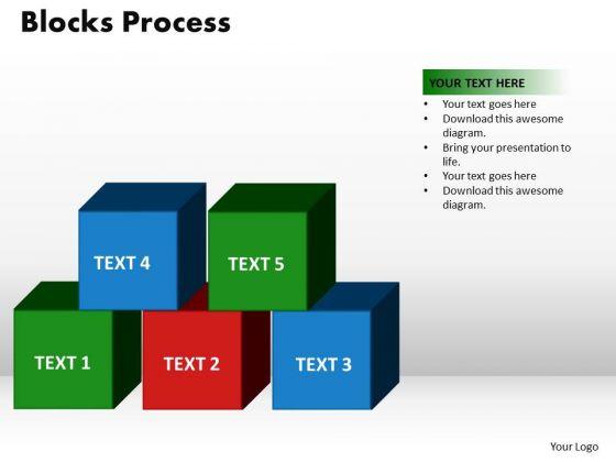 PowerPoint Backgrounds Blocks Process Teamwork Ppt Slides