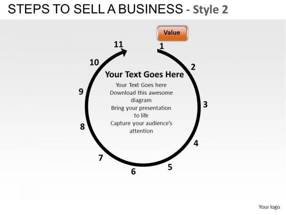 PowerPoint Backgrounds Business Corporate Steps To Sell A Business Ppt Templates