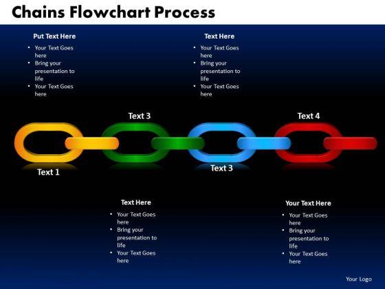 PowerPoint Backgrounds Chains Flowchart Process Business Ppt Slide Designs