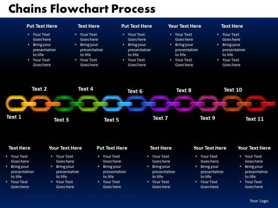 PowerPoint Backgrounds Chains Flowchart Process Success Ppt Design Slides
