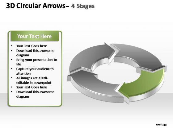 PowerPoint Backgrounds Chart Circular Arrows Ppt Design