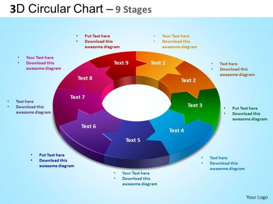 PowerPoint Backgrounds Chart Circular Chart Ppt Theme