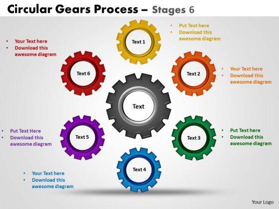 PowerPoint Backgrounds Chart Circular Gears Ppt Slide Designs
