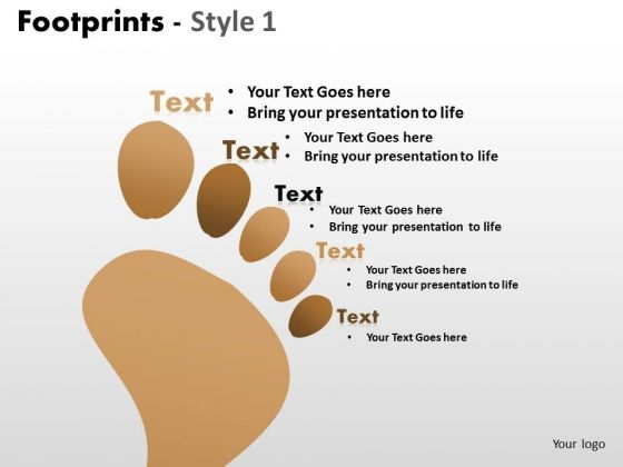 PowerPoint Backgrounds Chart Footprints Ppt Presentation