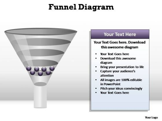 PowerPoint Backgrounds Chart Funnel Diagram Ppt Slide