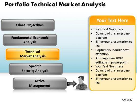 PowerPoint Backgrounds Chart Portfolio Technical Market Ppt Slides