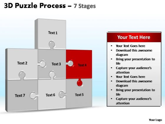 PowerPoint Backgrounds Chart Puzzle Process Ppt Design