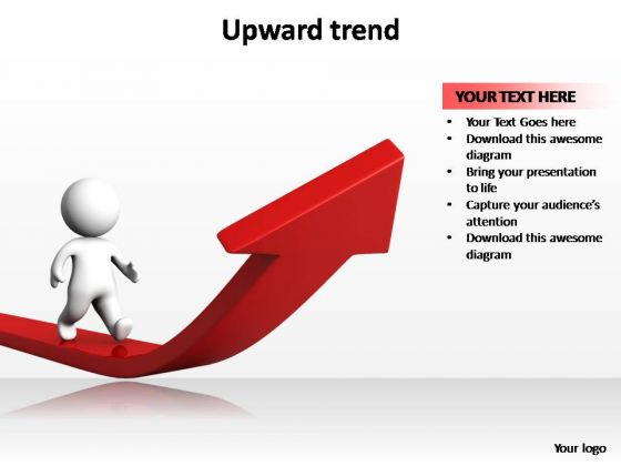PowerPoint Backgrounds Chart Upward Trend Ppt Theme
