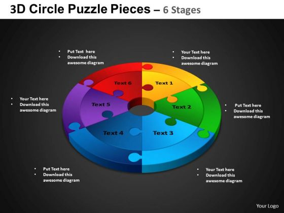 PowerPoint Backgrounds Circle Chart Circle Puzzle Diagram Ppt Layouts