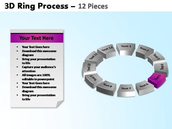 PowerPoint Backgrounds Circle Chart Ring Process Ppt Design Slides