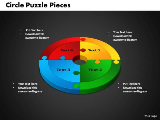 PowerPoint Backgrounds Circle Puzzle Process Ppt Slides