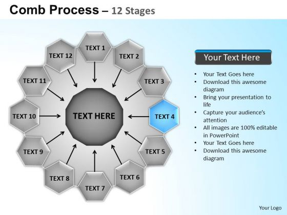 PowerPoint Backgrounds Circular Flow Diagram Ppt Slides