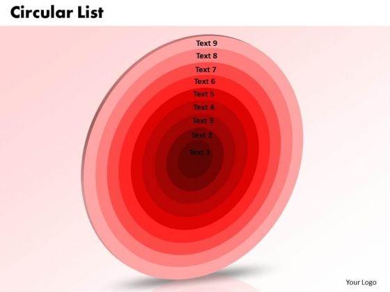PowerPoint Backgrounds Circular List Business Ppt Design
