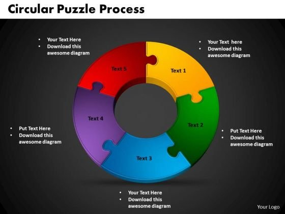 PowerPoint Backgrounds Circular Puzzle Metaphor Ppt Designs