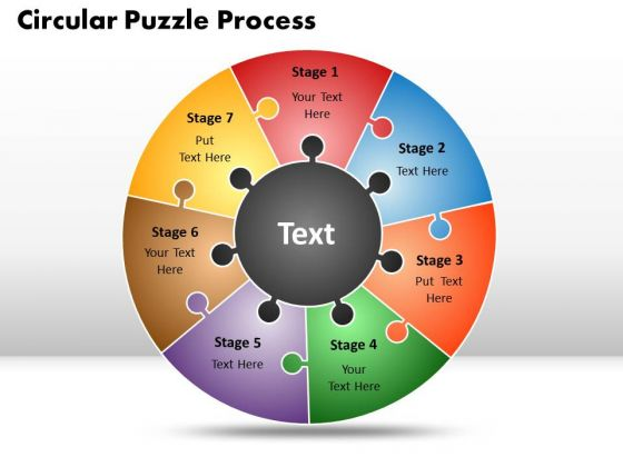 PowerPoint Backgrounds Circular Puzzle Process Finance Ppt Slides