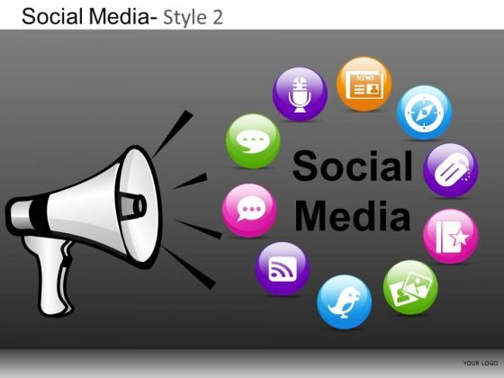 PowerPoint Backgrounds Company Designs Social Media Ppt Layouts
