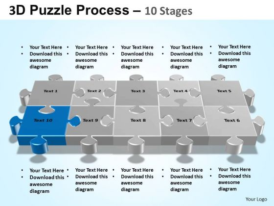 PowerPoint Backgrounds Company Puzzle Process Ppt Templates