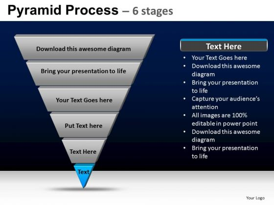 PowerPoint Backgrounds Company Pyramid Process Ppt Slide