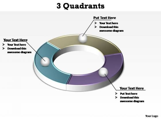 PowerPoint Backgrounds Company Quadrants Ppt Design