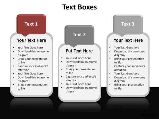 PowerPoint Backgrounds Company Textboxes Ppt Template