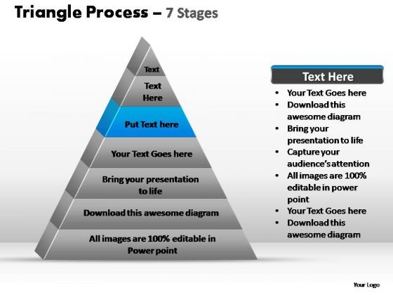 PowerPoint Backgrounds Company Triangle Process Ppt Theme