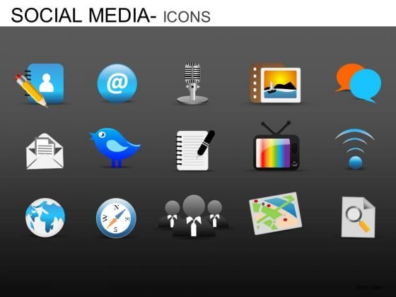 PowerPoint Backgrounds Corporate Competition Social Media Icons Ppt Slidelayout