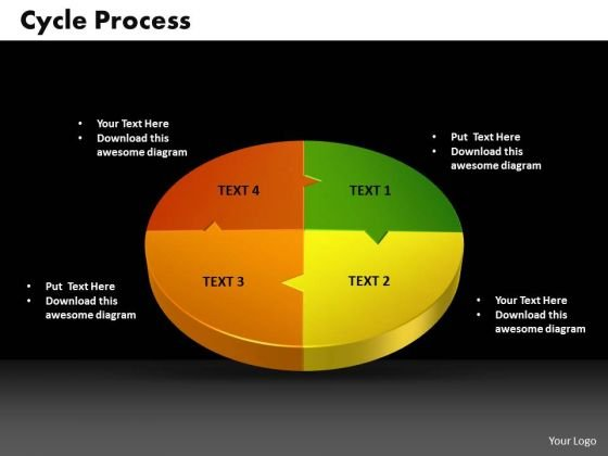 PowerPoint Backgrounds Cycle Growth Ppt Designs