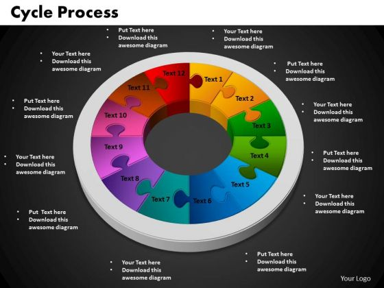 PowerPoint Backgrounds Cycle Process Chart Ppt Designs