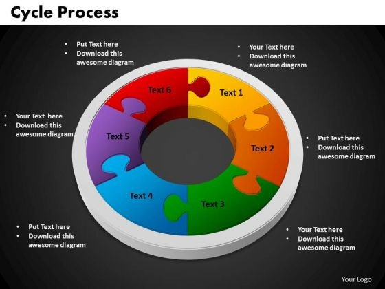 PowerPoint Backgrounds Cycle Process Chart Ppt Themes