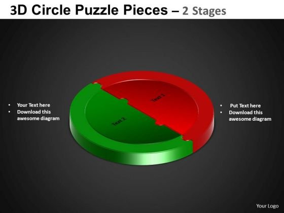 PowerPoint Backgrounds Cycle Process Circle Puzzle Diagram Ppt Process