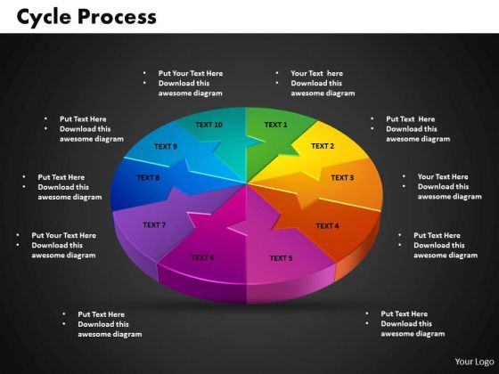 PowerPoint Backgrounds Cycle Process Leadership Ppt Template