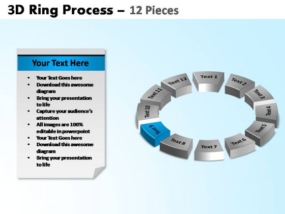 PowerPoint Backgrounds Cycle Process Ring Process Ppt Template