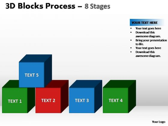 PowerPoint Backgrounds Diagram Blocks Process Ppt Template