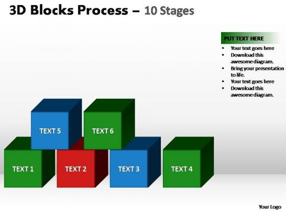 PowerPoint Backgrounds Diagram Blocks Process Ppt Theme