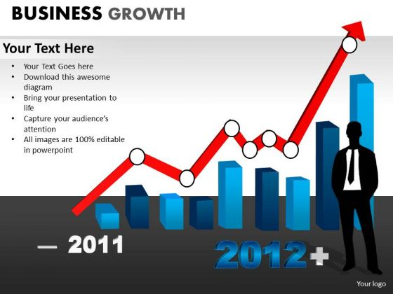 PowerPoint Backgrounds Diagram Business Growth Ppt Process