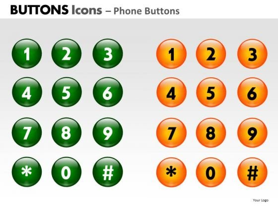 PowerPoint Backgrounds Diagram Buttons Icons Ppt Slide
