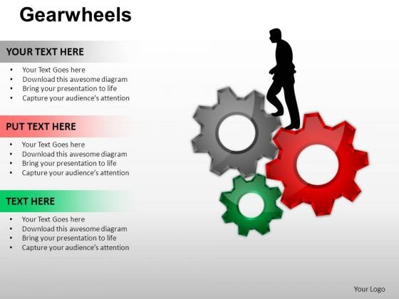 PowerPoint Backgrounds Diagram Gear Wheel Ppt Slidelayout