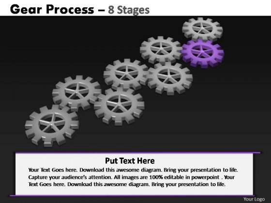 PowerPoint Backgrounds Diagram Gears Process Ppt Template