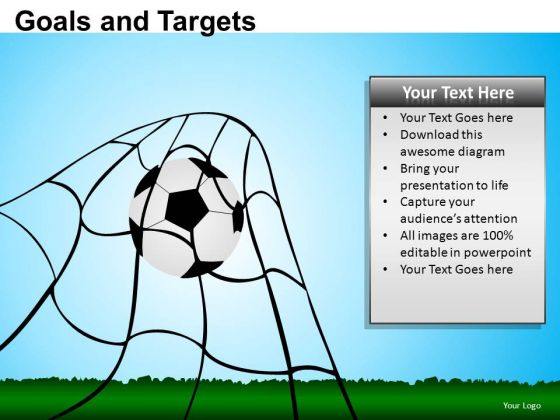 PowerPoint Backgrounds Diagram Goals And Targets Ppt Slidelayout