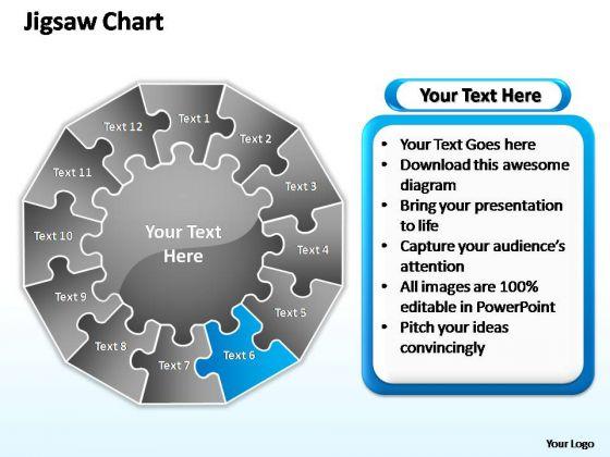 PowerPoint Backgrounds Diagram Jigsaw Ppt Design