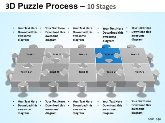PowerPoint Backgrounds Diagram Puzzle Process Ppt Template