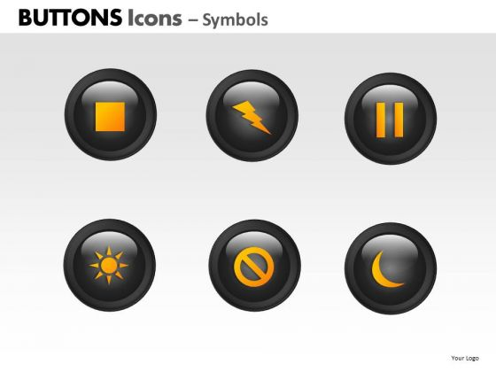PowerPoint Backgrounds Download Buttons Icons Ppt Themes