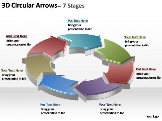 PowerPoint Backgrounds Download Circular Arrows Ppt Slide